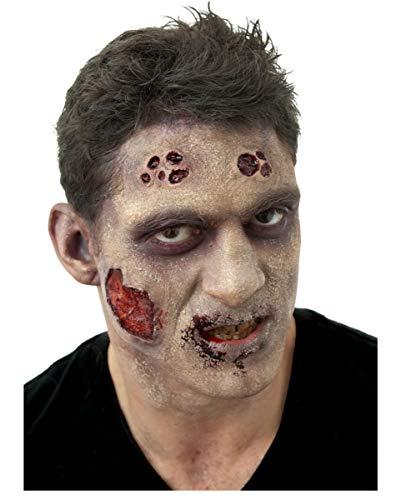 Horror-Shop Zombie Schmink Komplett Set als Halloween Make-up Zubehör