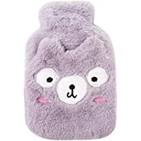 Youyun Wärmflasche mit süßem Tier-Design, Plüsch, superweich, 22,5 x 15 cm, Beige, violett, 22.5cm*15cm preisvergleich bei billige-tabletten.eu