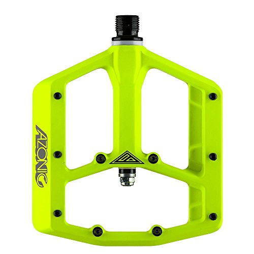 AZONIC Coppia pedali Big Foot giallo fluo (Pedali Bmx Freeride) / Pair pedals Big Foot neon yellow (Bmx Freeride Pedals)