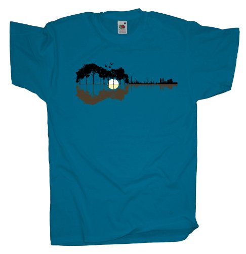 Ma2ca - Sounds from the Woods Herren T-Shirt | Musik Gitarre Band Shirt -azure-l (Band Musik T-shirt)