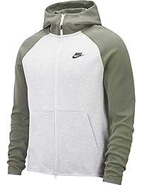 Nike Sportswear Tech Fleece Sudadera, Hombre, Gris (Birch Heather/Vintage Lichen)