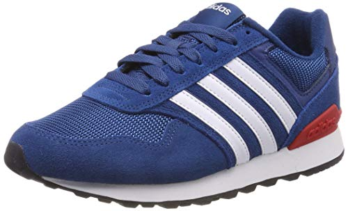 adidas Herren 10K Laufschuhe, Blau (Legend Marine/Ftwr White/Active Red), 43 1/3 EU