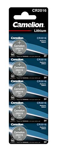 Camelion 13005016 Lithium Knopfzelle, 3V, 5er-Pack, Blister