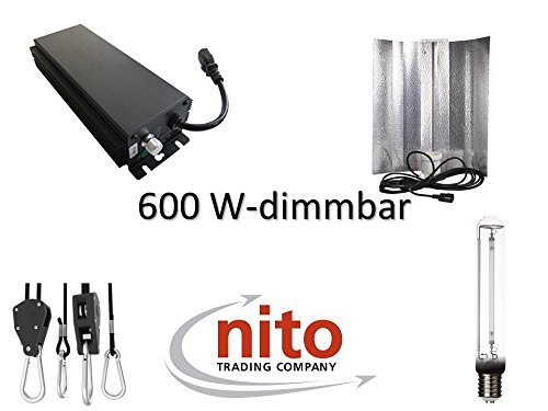 Generic Grow Light Set 400 W : VSG, réflecteur, NDL, MH et Suspension 600 Watt dimmbar