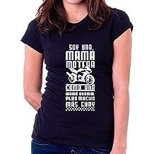 Custom Vinyl Camiseta Mama Motera (Blanca, XL)