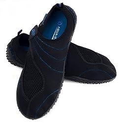 Aqua Speed Wasserschuhe/Surfschuhe/Badeschuhe Aquashoe 15b (schwarz/blau, 38)