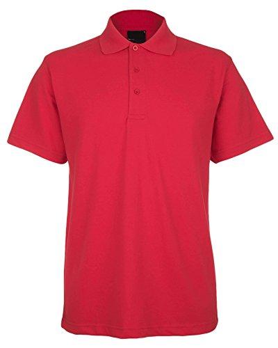 Preisvergleich Produktbild Price Drop 247 Classics Pique Polo für Herren,  aus Stoff Piqué 220 g / m²,  verfügbar in 15 Farben,  Größe XS – 4 x L,  rot