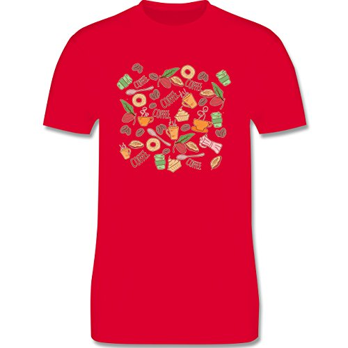 Statement Shirts - Kaffee Collage - Herren Premium T-Shirt Rot