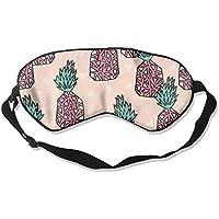 Pineapple Pattern Natural Silk Sleep Mask Comfortable Smooth Blindfold for Travel, Relax preisvergleich bei billige-tabletten.eu