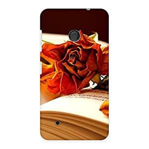 Cute Rose Book Back Case Cover for Lumia 530