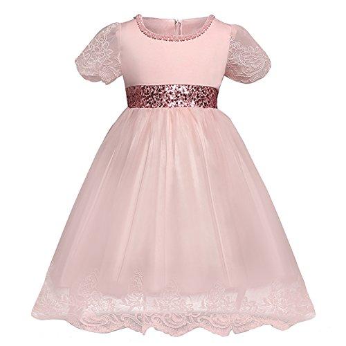 Qunsia M?dchen Prinzessin Kleid Spitze Sequined Hochzeit Taufe Kleid f¨¹r Kleinkind Baby M?dchen -