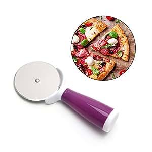 BIlinl Affettatrice per Il Taglio del Rullo del Coltello per Pane della Torta Rotonda della taglierina della Pizza dell'Acciaio Inossidabile