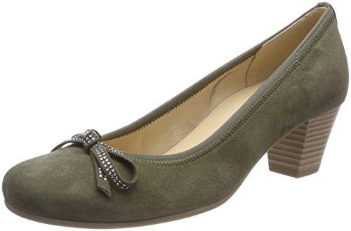 Gabor Shoes Damen Basic Pumps, Grün (Oliv), 43 EU (Leder Pumps Grüne)