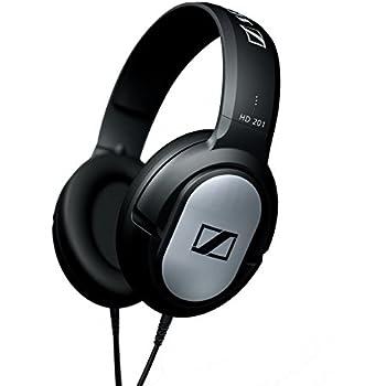 Sennheiser HD 201 Closed Dynamic Stereo headphones for Studio, Performance Live and Djs - Black