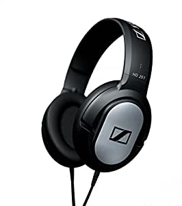 Sennheiser HD 201 Closed Dynamic Stereo headphones for Studio, Performance Live and Djs - Black