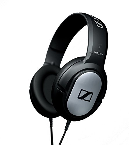 Sennheiser HD201 Over-Ear, Cavo 3 m, Silver