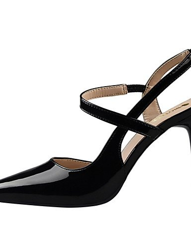 WSS 2016 Chaussures Femme-Habillé-Noir / Rose / Violet / Rouge / Argent / Gris-Talon Aiguille-Talons / Bout Pointu / Bout Fermé-Talons-Similicuir red-us6.5-7 / eu37 / uk4.5-5 / cn37