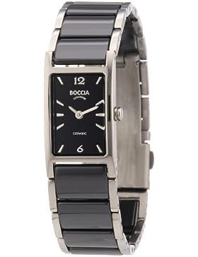 Boccia Damen-Armbanduhr Ceramic Analog verschiedene Materialien 3201-02