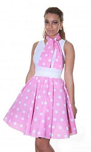 Glossy Look - Jupe - Femme noir noir Pink White Polka Dot (18 Inches)