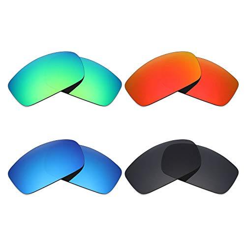 Mryok 4Paar Polarisierte Ersatz-Objektive für Costa Del Mar caballito Sonnenbrille-Stealth Schwarz/Fire Rot/Ice Blau/Smaragd Grün