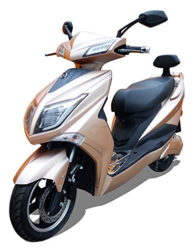 HAWK 3000 LI 3000 Watt Elektroroller 45 km/h 2 Lithium Akkus E Roller E Scooter mit Straßenzulassung Elektro Roller Scooter Testsieger kaufen, Gold