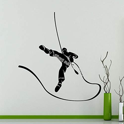 zhuziji Klettern Wandaufkleber Bergsteiger Alpinismus Extreme Sport Vinyl Aufkleber Home Interior Decor Hochwertige wasserdichte Wandbild 50x55 cm