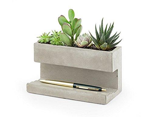 Schreibtisch-Blumentopf aus Beton