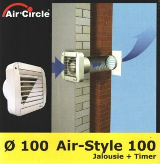 Wallair ECO 100 A Wand- und Deckenlüfter 230 V 90 m³/h 10 cm