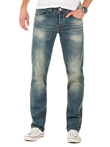 Yazubi Herren Jeans Martin straight fit (Regular gerade geschnitten), Blau (Vintage Indigo 193929), W33/L32
