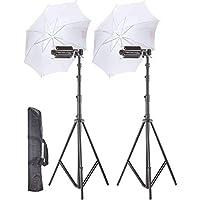 WON Pair Porta Umbrella Video Light for Video Photography Portable Studio Kit