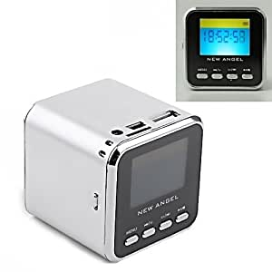New Angel - mini Enceinte Cube Multimédia & MP3 (gris)