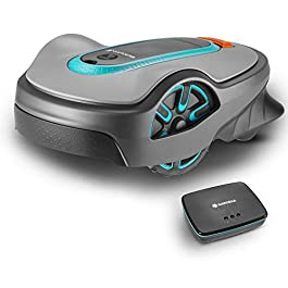 Gardena 19113 – 34 Set Robot tondeuse Smart Sileno Life 750 m², noir, anthracite, orange, turquoise