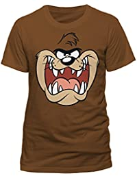 e5a248ad0e84e1 Looney Tunes Tasmanian Devil Face Taz Official Warner Bros Brown Mens  T-Shirt