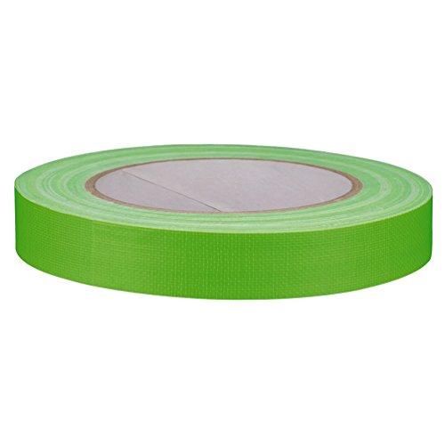 Gewebeband Klebeband neon grün 19 mm x 25 m, inkl. individuall® Cuttermesser