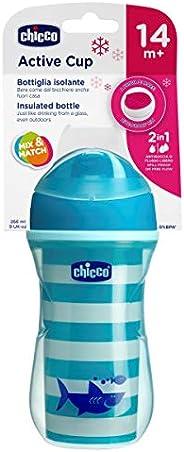 Chicco Cluster Transition Cup Tazza Antigoccia, 14+ Mesi, Bambino, Blu