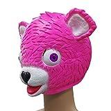 SOMESUN Cuddle Team Leader Pink Bear Game Mask Melting Face Costume Adulto In Lattice Maschera Di Orso Rosa Parodia Giocattolo Ingannevole (Rosa)