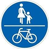 Verkehrszeichen VZ240, Gemeinsamer Geh- und Radweg, Alu, RA1, Ø 42cm Verkehrsschild