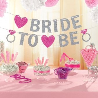 "Glitzer Girlande ""Bride to be"""
