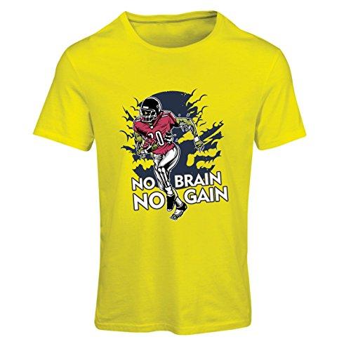 Gehirn, kein Gewinn! Zombie Football Player - inspirierende Fußball Zitate (Medium Gelb Mehrfarben) (Halloween Sprüche Oder Zitate Für Karten)
