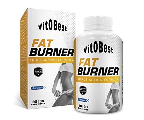 Quemagrasas FAT BURNER 90 Caps. - Producto de Calidad Optima y Quemagrasas Potente para Adelgazar - Vitobest