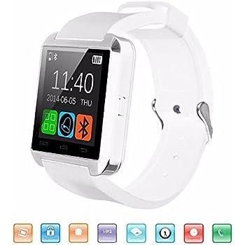 KeepGoo Bluetooth Reloj Inteligente, U8 Smartwatch para Android iOS Soporte Salud Podómetro Sleep Monitor Llamada/SMS/SNS Alerta Reloj de Pulsera con ...