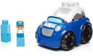 Mega Bloks- Coche de policia, Juego de Bloques de construcción, Multicolor (Mattel DYT60)