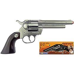 Gonher - Revolver Cowboy , 12 Coups, Couleur Mat (121/0)