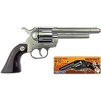 Gonher Revolver 12 Tiros-Plata,, Talla (121/0)