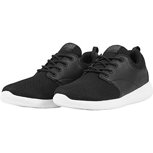 Urban Classics Damen und Herren Light Runner Shoe, Low-Top Sneaker für Damen und Herren, Sportschuhe mit Schnürung, Schwarz/Weiß, Größe 41
