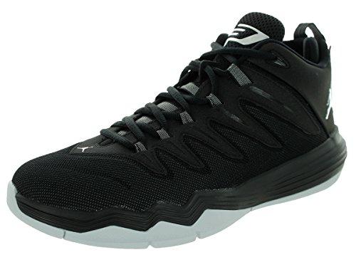 Nike Herren Jordan Cp3.Ix Basketballschuhe, Talla Schwarz / Silber / Grau (Schwarz / Metallic Silver-Anthrct)