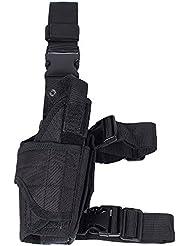 Táctica Universal pistola pistola de mano gota pierna, diestros de Monedero Negro