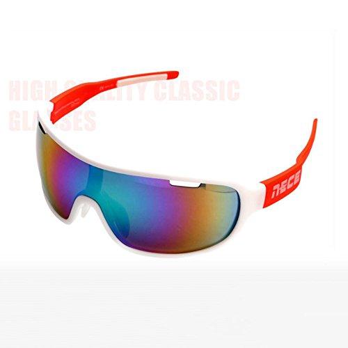 BYCSD Frau Männlich Reiten Sonnenbrille - Winddicht - Schlagfestigkeit -3 Paar Linsen (Farbe : C)