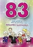 Zahlengeburtstagskarte '83. Geburtstag' [Bürobedarf & Schreibwaren]