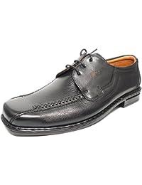 Chaussures Homme Fluchos Avec Lacets - Cuir Noir - 5600-34 (45, Noir)
